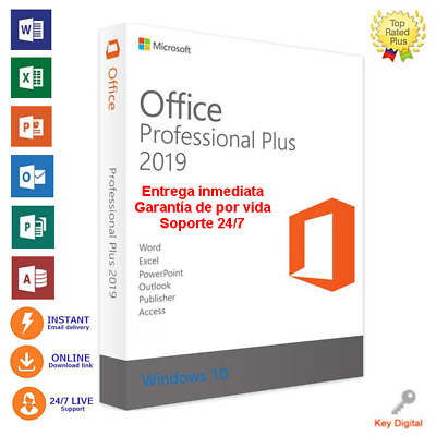 Office 2019 Professional Plus 32/64 Bits Licencia Original Llave Download Link