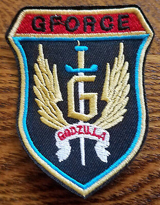 Godzilla G-Force UNGCC Shield Wings Patch 3  inches tall