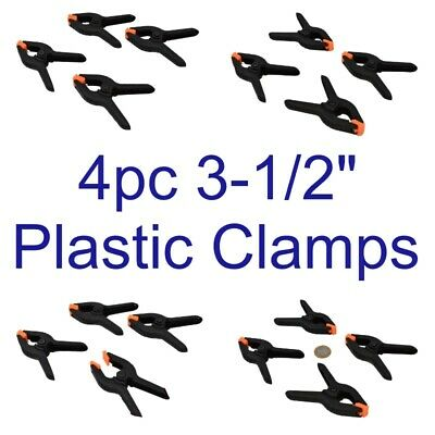"4pc 3-1/2"" Plastic Clamp Nylon Spring Clamps Grips Clips Market Stall CL112"