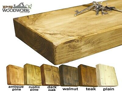 Rustic Floating Shelves Hand Made Solid Shelf Chunky Wooden Lots Sizes colours
