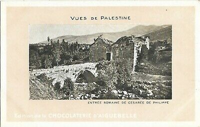 Cpa Israel Entree Romaine Cesaree Philippe Vue Palestine Chocolaterie Aiguebelle