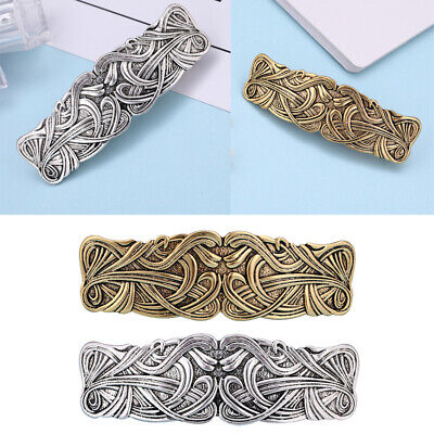 Antique Hand Crafted Metal Celtic Hairclip Barrette Ponytail Holder Hairpin