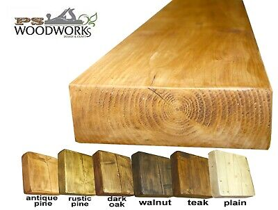 Shelves Floating Rustic Solid Hand Made Wooden Shelf Chunky Lots Sizes colours