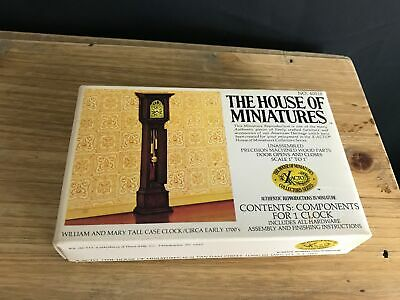 X-Acto House Of Miniatures #40018 William and Mary Tall Case Clock NEW UNSEALED