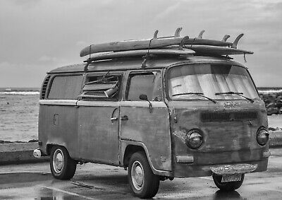 A3| Classic Surf Van Poster Print Size A3 Surfing Vehicle Poster Gift #14166