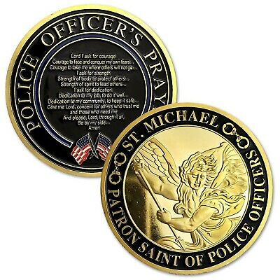 St. Michael Police Challenge Coin Patron Saint of Law Enforcement (One Coin)