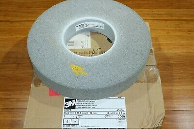 "3M Scotch-Brite EXL 12"" x 2"" x 5"" Unitized Light Deburring Wheel 6S Fine Grit"