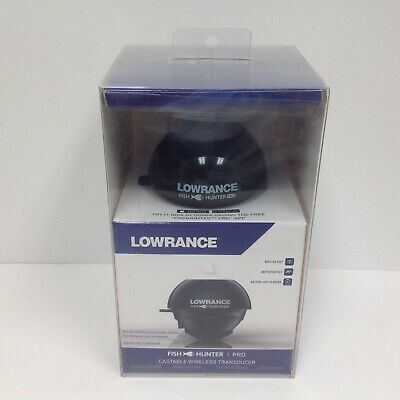 Lowrance FishHunter Pro Castable Wireless Transducer 000-14329-001 Free Acc Pk