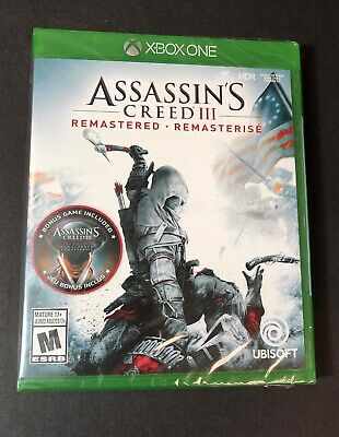 Assassin S Creed Iii Remastered Ps4 Sony Playstation 4 2019 Brand New 19 99 Picclick