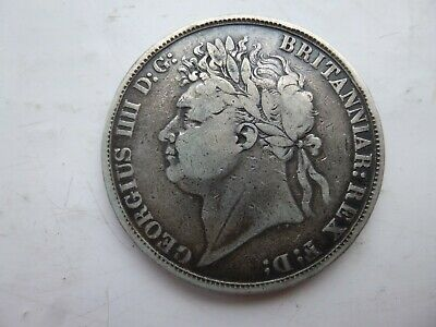 1821  5/-. Silver Crown Coin Of King George Iv. Secundo Edge.