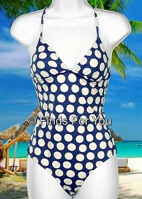 dc22911badf5e Madewell Women's 1937 Graphic Dot Swimsuit Bathing Suit Blue White Size 4  73597