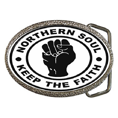 Northern Soul 'Keep The Faith' Belt Buckle - Great Gift Item