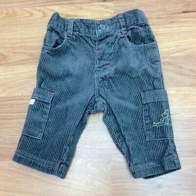 Mothercare Cord Jeans Baby Boys 0-3 Months Grey Side Pockets Humphrey's Corner