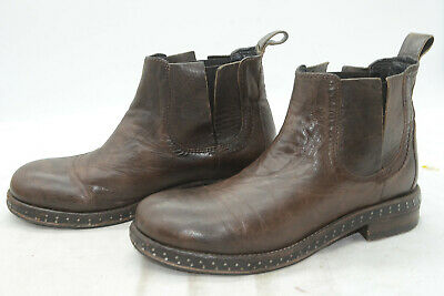 f81164a53 Catarina Martins Womens Sz 37 Brown Leather Riding Biker Work Ankle Boots
