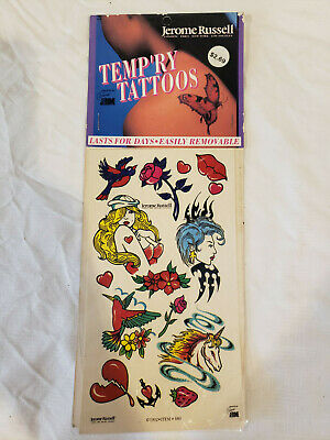 VINTAGE JM2 RETRO BODY STICKERS TEMPORARY TATTOOS VARIETY PACK EARLY 90's