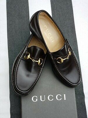 ce02a0c5d Gucci Brown Leather Classic Horsebit Loafers 110-0009 Size 7 D. Worn Twice!