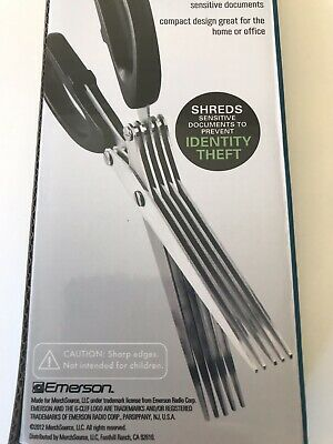 EMERSON DURABLE SHREDDING Scissors, Five Stainless-Steel Multi