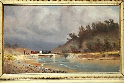 Antique Thaddeus Welch Oil Painting
