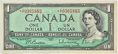 1954 Bank of Canada One Dollar  BC-37bA-i  *A//F Replacement  #35636