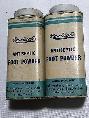 Vintage Collectable Tins Rawleigh's Antiseptic Foot Powder Tins