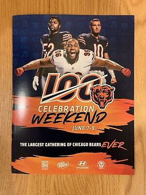 2019 Chicago Bears 100 Celebration Weekend Convention Official Program NEW
