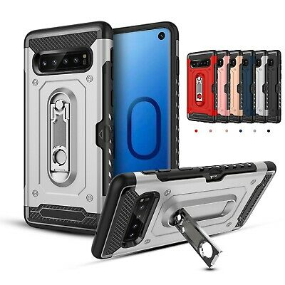 For Samsung Galaxy S10 5G S10+ A30 Hybrid Case Card Slot Shockproof Stand Cover