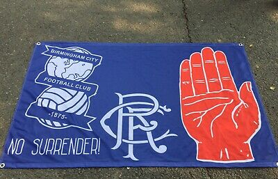 Birmingham City & Glasgow Rangers Red Hand 3 X 5Ft  Flag/Banner Ulster Loyalist