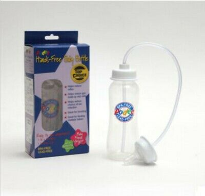 Twin Pack 2 USED ~Podee Hands Free Baby Bottle System ~ 9oz Blue Bottles