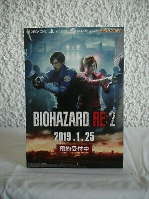 Resident Evil 2 Remake Devil May Cry 5 Promo Pappaufsteller Display Standee Rare