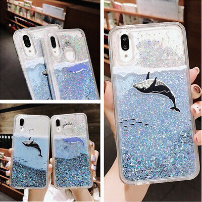For Samsung Galaxy S10 Plus A50 A30 Whale Quicksand Soft Rubber Slim Case Cover