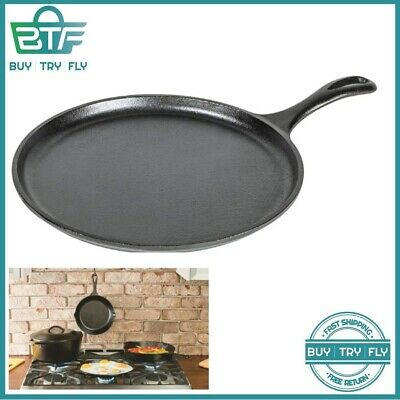 CAST IRON PAN For Pancakes LODGE Pizza Dosa Eggs Oven Gas