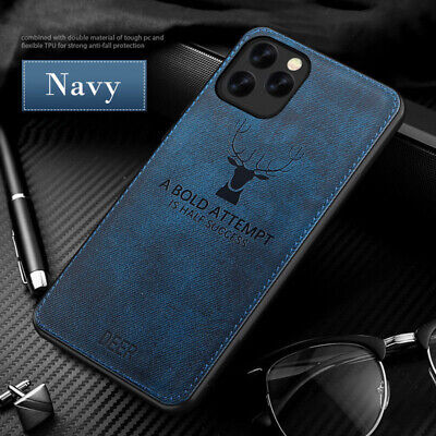 For iPhone  11 Xs Max Xr 7 8 6s+ Slim Fabric Texture Soft Shockproof Case Cover