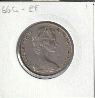 1966C Australian 20 Cent Coin - CANBERRA MINT MARK - Extremely Fine