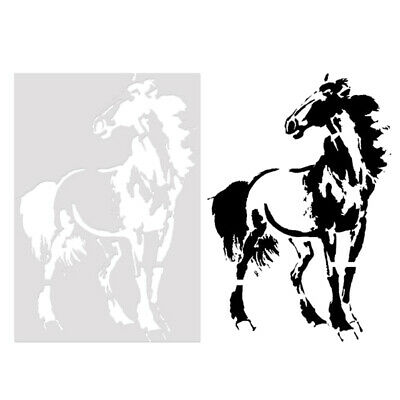 Horse Stencil Cake Mould Kids Painting Scrapbook Template Stencils DIY Decor VQ
