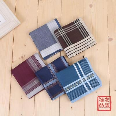 100% Cotton Checks Plaids Handkerchiefs Square Pocket Hanky Bussiness 43*43CM