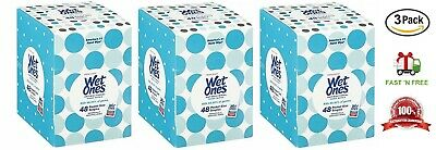 Wet Ones Antibacterial Hand Wipes Singles, Fresh Scent, 48 Count