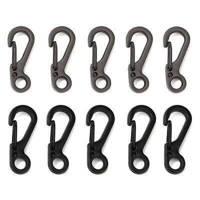 Pack of 10 20 Mini Carabiner Alloy Key Buckle Keychain Snap Spring Clip Hook