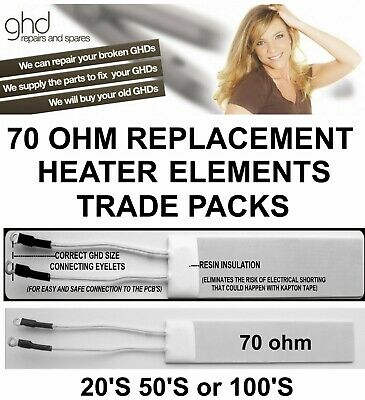 GHD 70ohm Heater elements Trade Packs 20,s 50's and 100's Free Thermal Paste