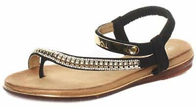 Cipriata toe post jewelled beaded sandals st laurenza  Col various sz 36-41 New