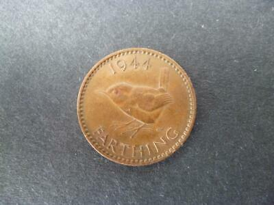 1944 Farthing Coin King George The Sixth In Good Used Condition, Bronze.