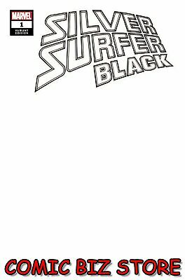 Silver Surfer Black #1 (Of 5) (2019) 1St Printing Blank Variant Cover Marvel