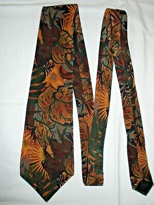vintage 100% SILK abstract floral geometric Neck Tie big band lindy 40s-80s