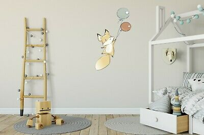 Nursery Wall Decal Sticker for Baby and Kids , Cute Fox with Balloons