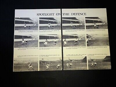 Len Duquemin Tottenham Hotspur pair full page book illustrations signed 8 times!