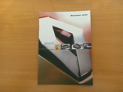 Renault Clio V6 Service Book New Genuine Not Duplicate All Renault Cars & Vans