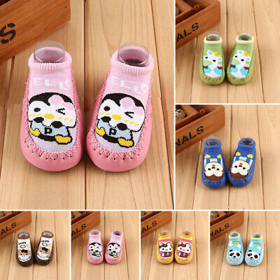 Baby Toddler Boy Girl Cartoon Kintted Prewalker Sock Shoes Child Soft Sole Boots