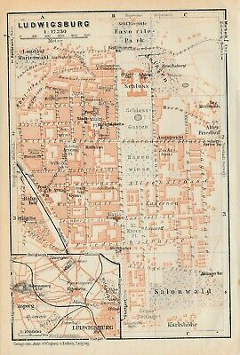 City plan of Ludwigsburg - Germany  c1929 By Wagner & Debes