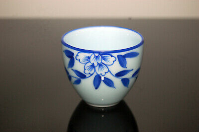 Hand Painted Porcelain Chinese Blue and White Glazed Tea Wine Cup
