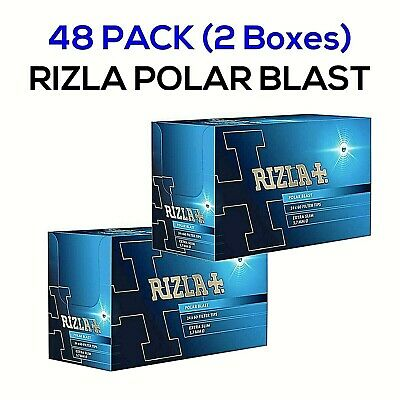 48 X Rizla Polar Blast Filter Tips Extra Slim Menthol Smoking Rolling (2 Boxes)