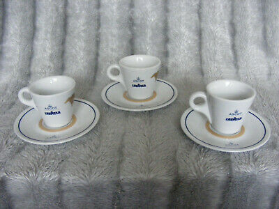 New Set 3 x IPA Italy LavAzza Ascot Espresso Coffee Cups & Saucers Horse Racing